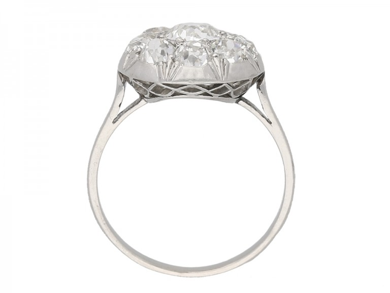 back view art deco diamond ring berganza hatton garden