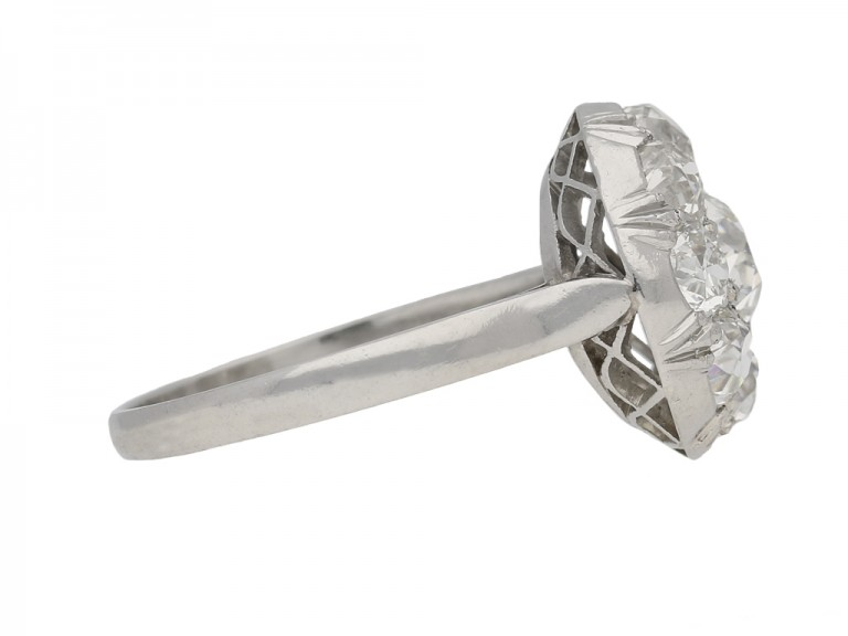 side veiw art deco diamond ring berganza hatton garden