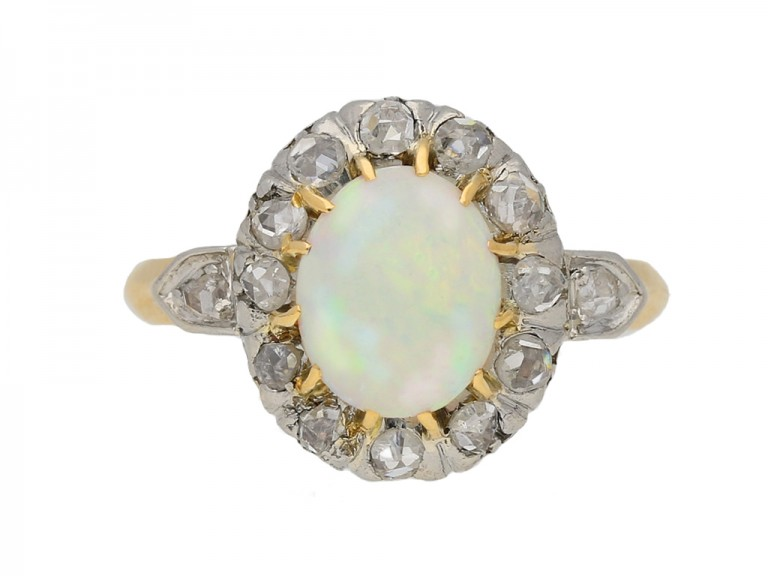 Victorian opal diamond ring berganza hatton garden