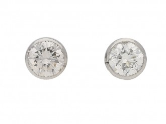 vintage diamond earrings berganza hatton garden
