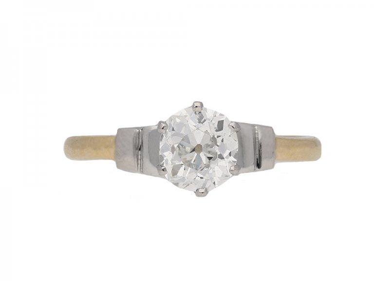 antique engagement diamond ring berganza hatton garden
