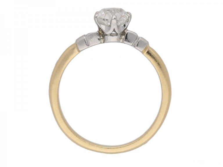 front view antique engagement diamond ring berganza hatton garden