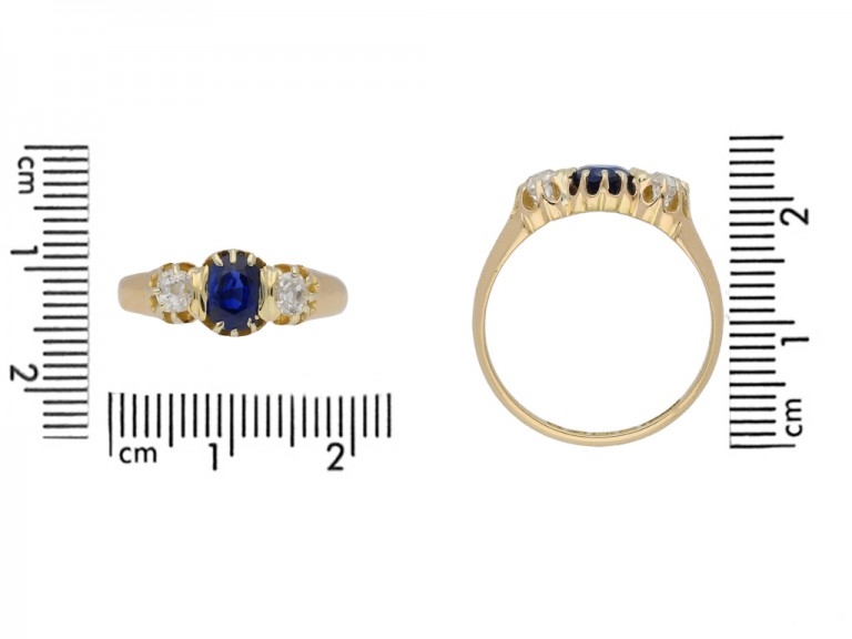 size view antique sapphire diamond ring berganza hatton garden