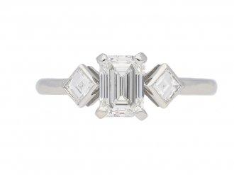 Art Deco diamond engagement ring berganza hatton garden`