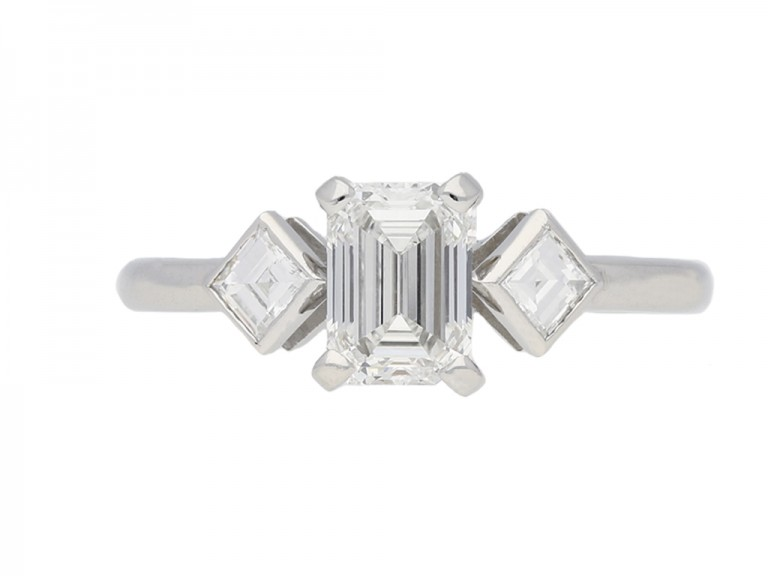 Art Deco diamond engagement ring berganza hatton garden`