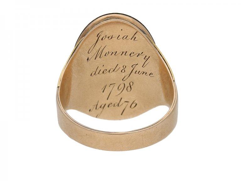 antique Enamelled memorial ring berganza hatton garden