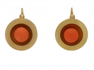 antique coral gold earrings berganza hatton garden