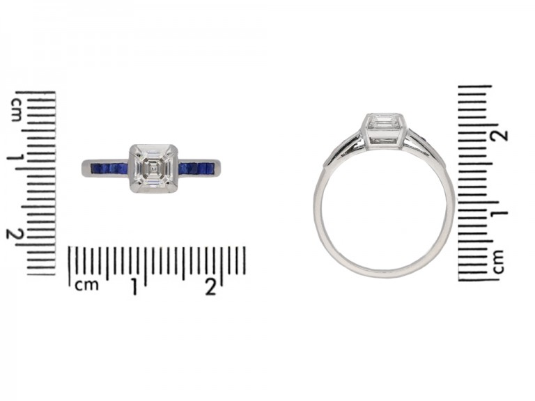 sscher diamond sapphire ring berganza hatton garden