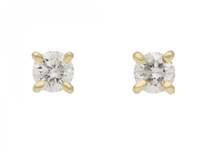vintage diamond earrings berganza hatton garden