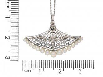 antique Diamond pearl pendant berganza hatton garden