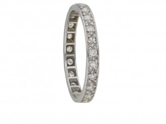 antique Diamond set eternity ring berganza hatton garden