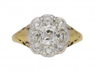Victorian diamond cluster ring berganza hatton garden