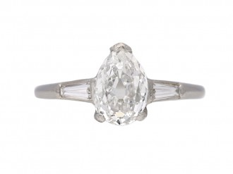 Vintage diamond engagement ring berganza hatton garden
