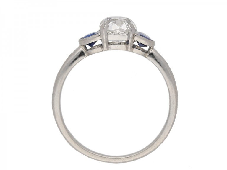 front antique diamond sapphire ring berganza hatton garden