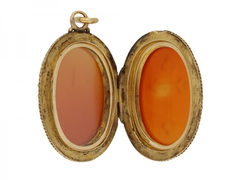 Antique agate locket hatton garden