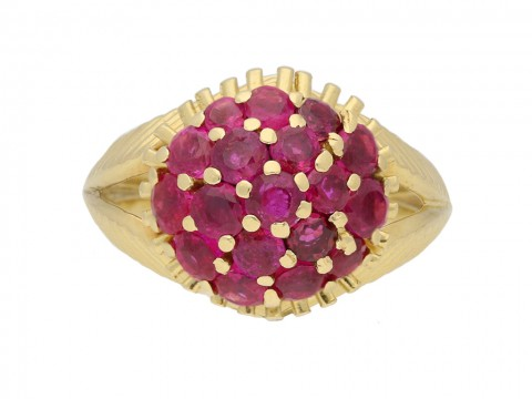 Tiffany & Co ruby cocktail  ring berganza hatton garden