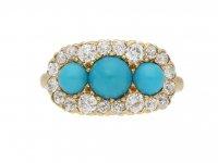 Antique Tiffany turquoise diamond ring berganza hatton garden