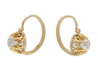antique diamond drop earrings berganza hatton garden