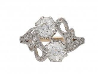 antique diamond crossover ring berganza hatton garden