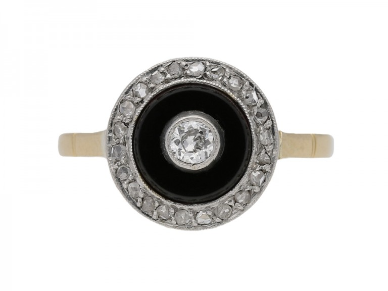 Diamond onyx cluster ring berganza hatton garden