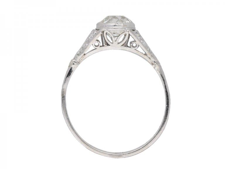 Antique diamond engagement ring hatton garden berganza