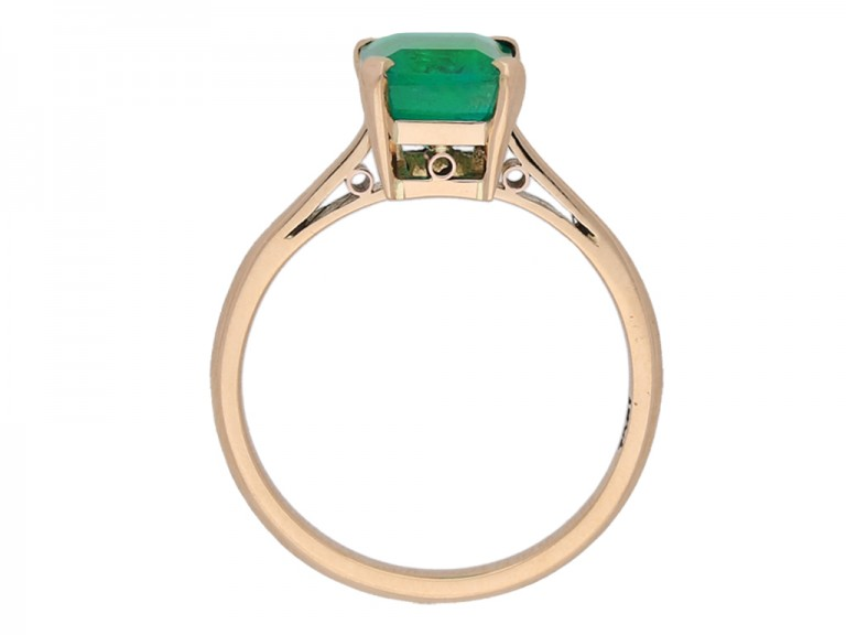 back view vintage Colombian emerald ring berganza hatton garden