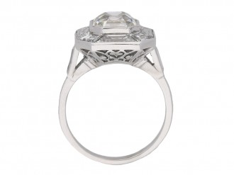 Art Deco asscher cut diamond ring berganza hatton garden
