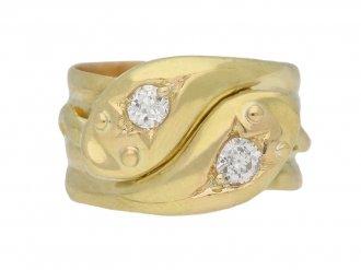antique diamond snake ring berganza hatton garden