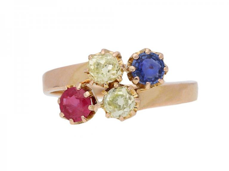 antique ruby diamond dapphire ring berganza hatton garden