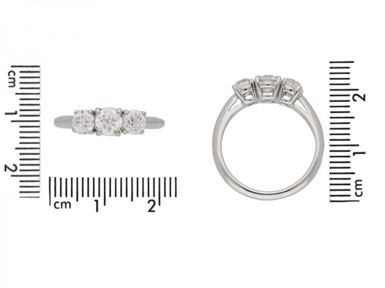 tiffany diamond 3 stone ring berganza hatton garden