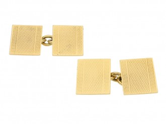 Deakin Francis gold cufflinks berganza hatton garden