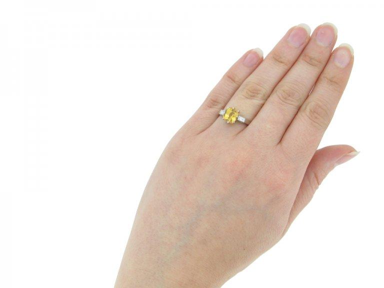 Vintage yellow sapphire diamond ring berganza hatton gardenVintage yellow sapphire diamond ring berganza hatton garden