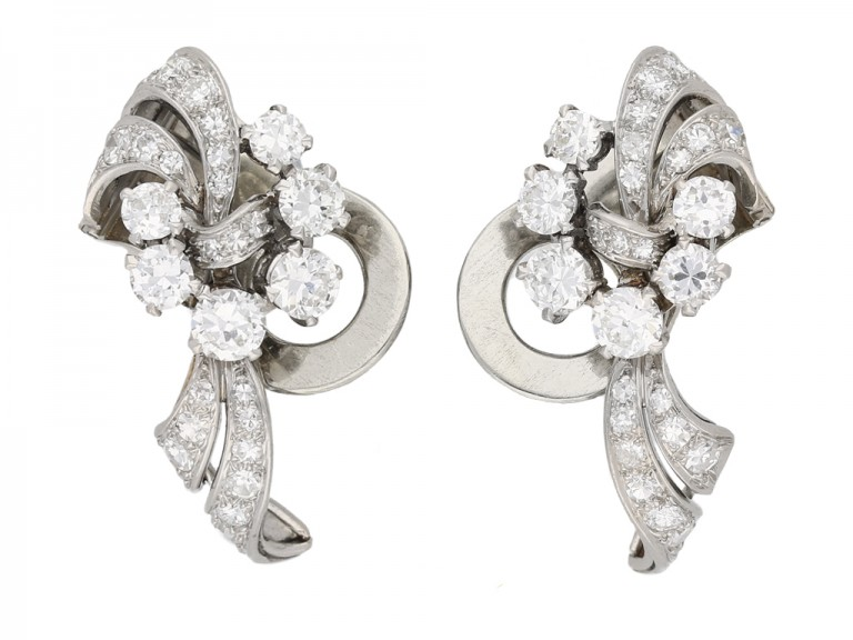 vintage Garrards diamond earrings berganza hatton garden