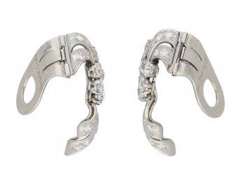 vintage Garrards diamond earrings berganza hatton garden