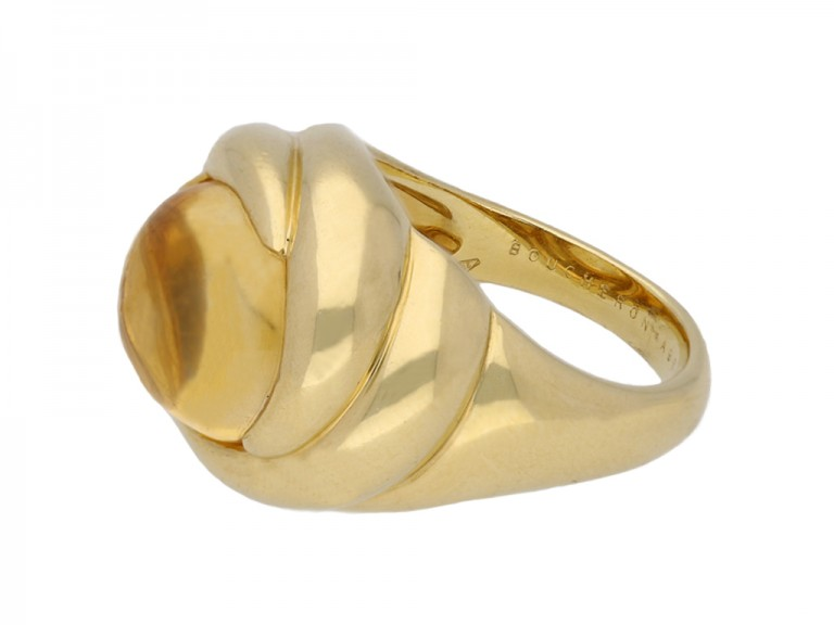 front view Vintage citrine ring by Boucheron berganza hatton garden