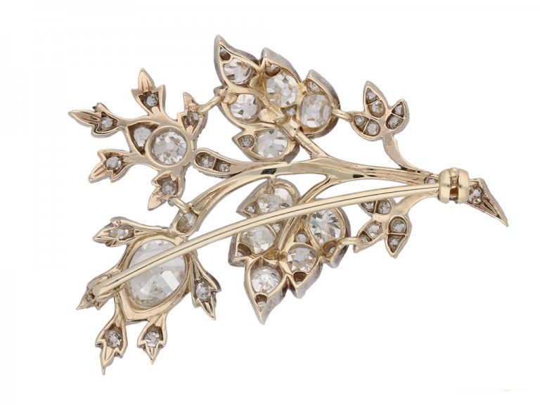 antique Diamond floral brooch berganza hatton garden