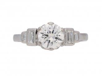 front view vintage diamond ring berganza hatton garden