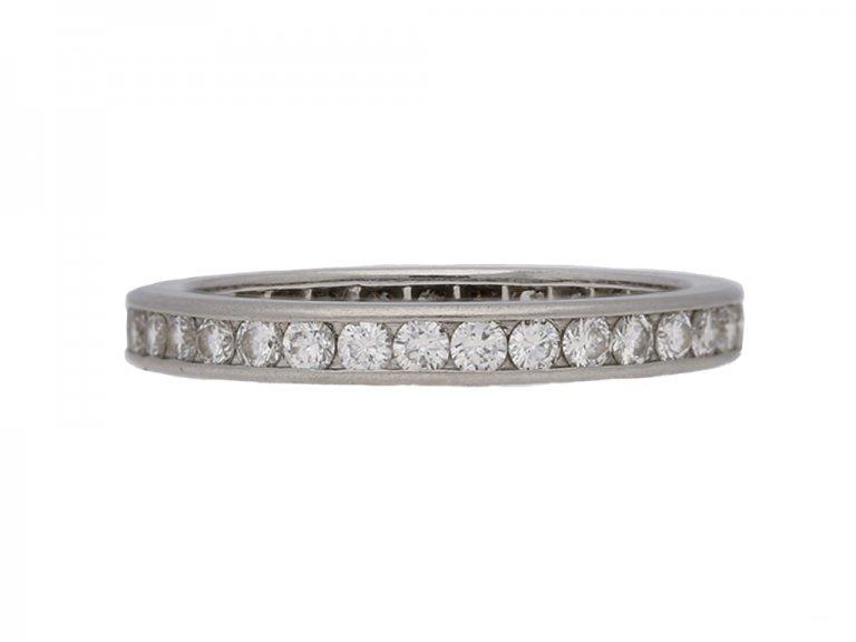 front view Tiffany diamond eternity ring berganza hatton garden
