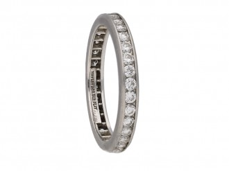 front view Tiffany diamond eternity ring berganza hatton garden