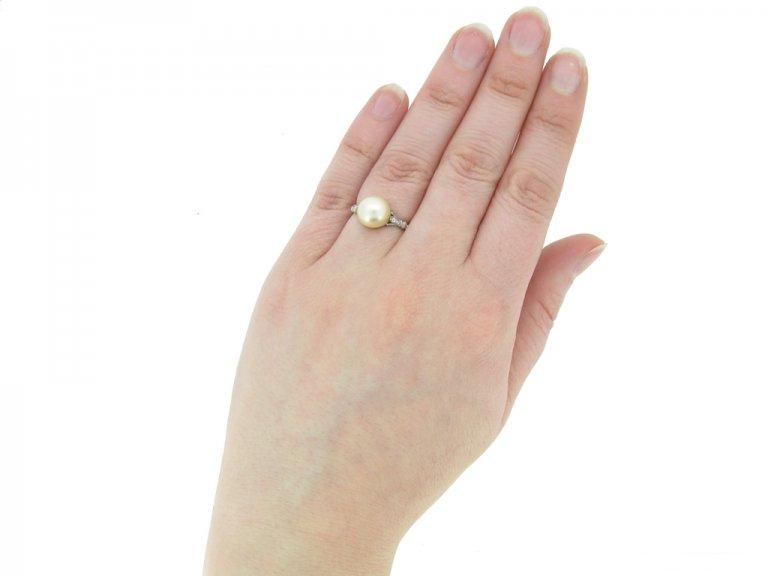 front antique pearl diamond ring berganza hatton garden