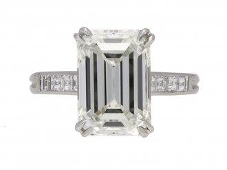 Vintage emerald cut diamond ring hatton garden berganza