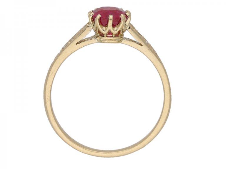 vintage diamond ruby ring berganza hatton garden