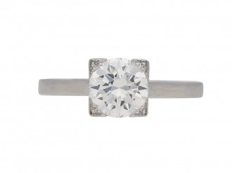 front view vintage diamond ring berganza hatton garden