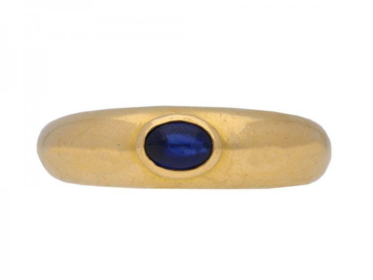 front view Chaumet sapphire ring hatton garden berganza