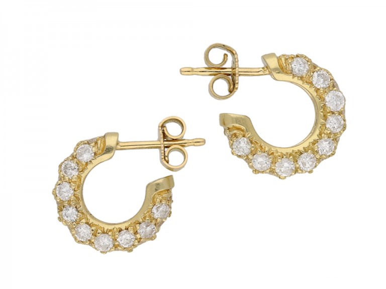 vintage diamond hoops berganza hatton garden