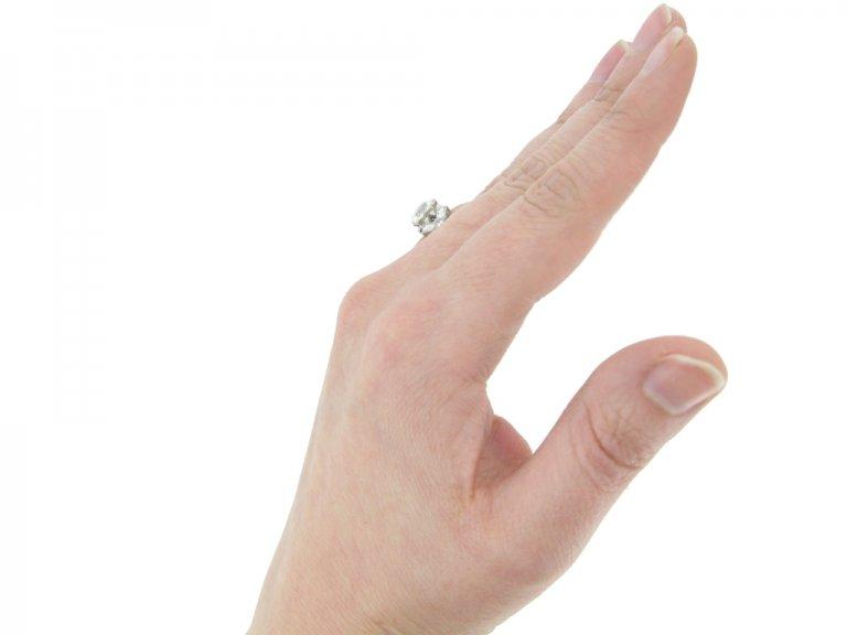 front veiw art deco diamond ring berganza hatton garden