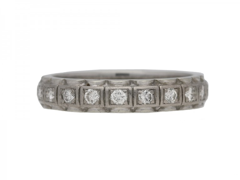 front view vintage diamond eternity ring berganza hatton garden
