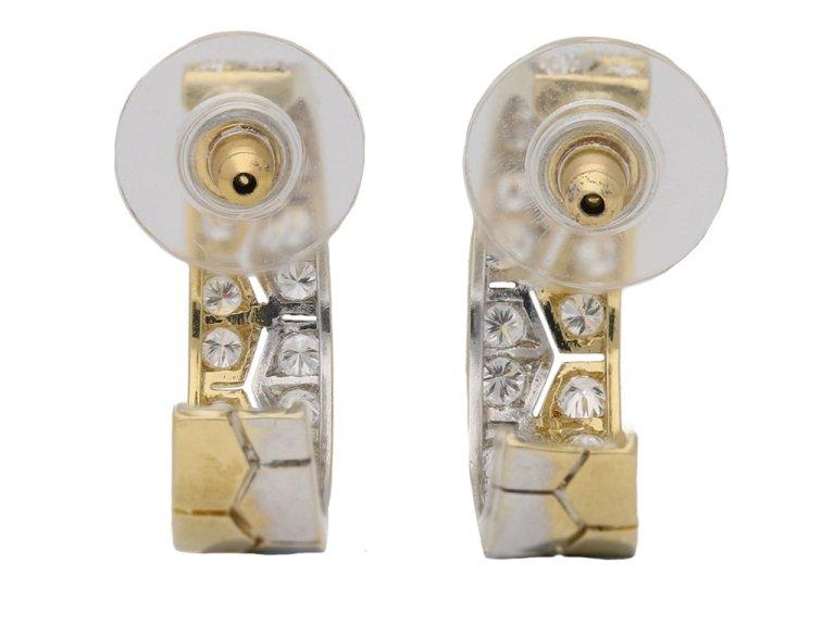 vintage diamond gold earrings berganza hatton garden