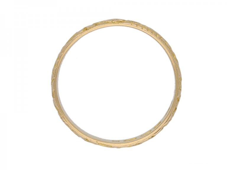 antique yellow gold wedding band hatton garden berganza