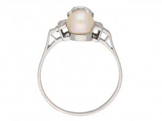 art deco pearl diamond ring hatton garden berganza